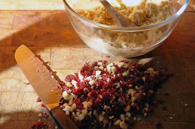 Chopped macadamia nuts ans dried cranberries | H is for Home