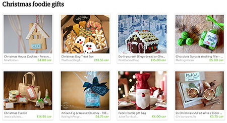 Christmas foodie gifts Etsy List curated by H is for Home