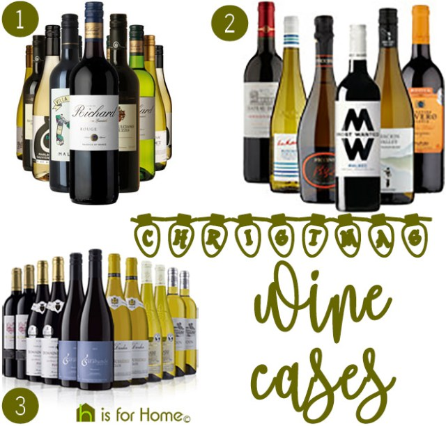 Christmas mixed wine cases | H is for Home