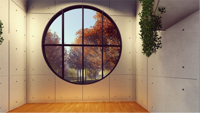 Large circular window