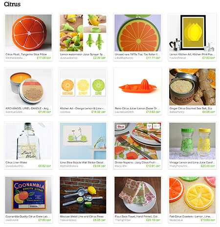 'Citrus' Etsy List curated by H is for Home