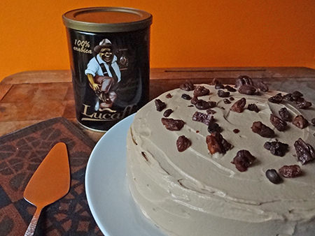 home made coffee & pecan cake | H is for Home