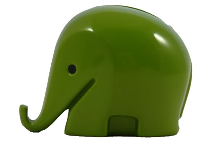 Green plastic vintage money box designed bu Luigi Colani in the 1960s | H is for Home
