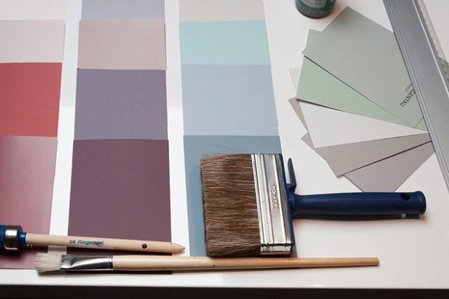 Paint colour charts