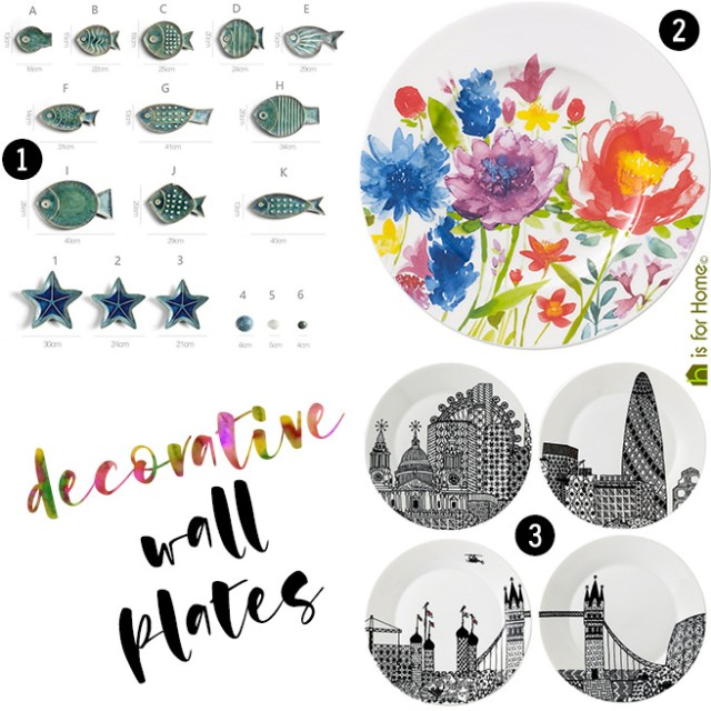 Decorative wall plates | H is for Home