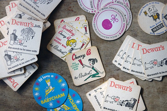 Vintage drink mats collection | H is for Home