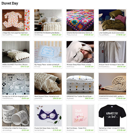 'Duvet Day' Etsy List curated by H is for Home