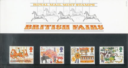 vintage Royal Mail British Fairs stamp presentation pack