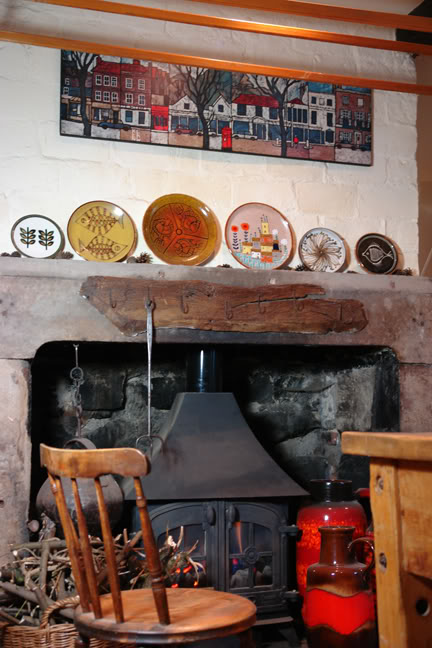 Photo of the fireplace in our kitchen