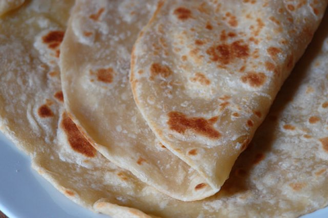 Detail of home-made flatbread | H is for Home