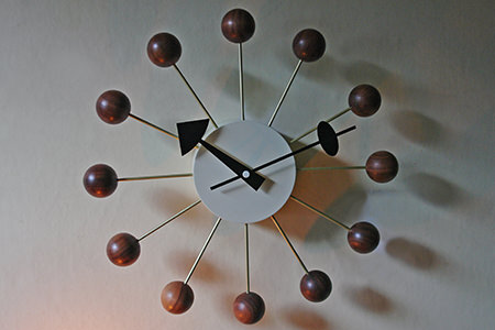George Nelson style ball wall clock from Vita Interiors