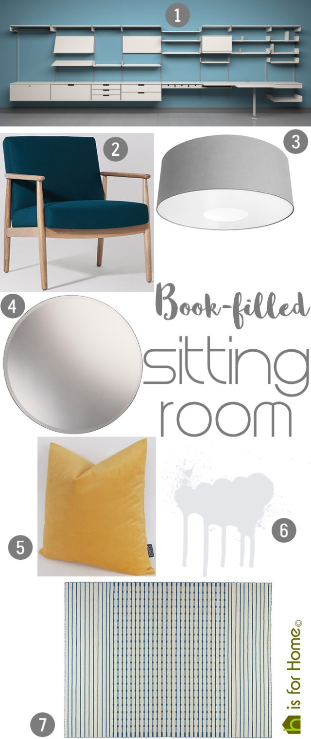 Get their look: Book-filled sitting room | H is for Home