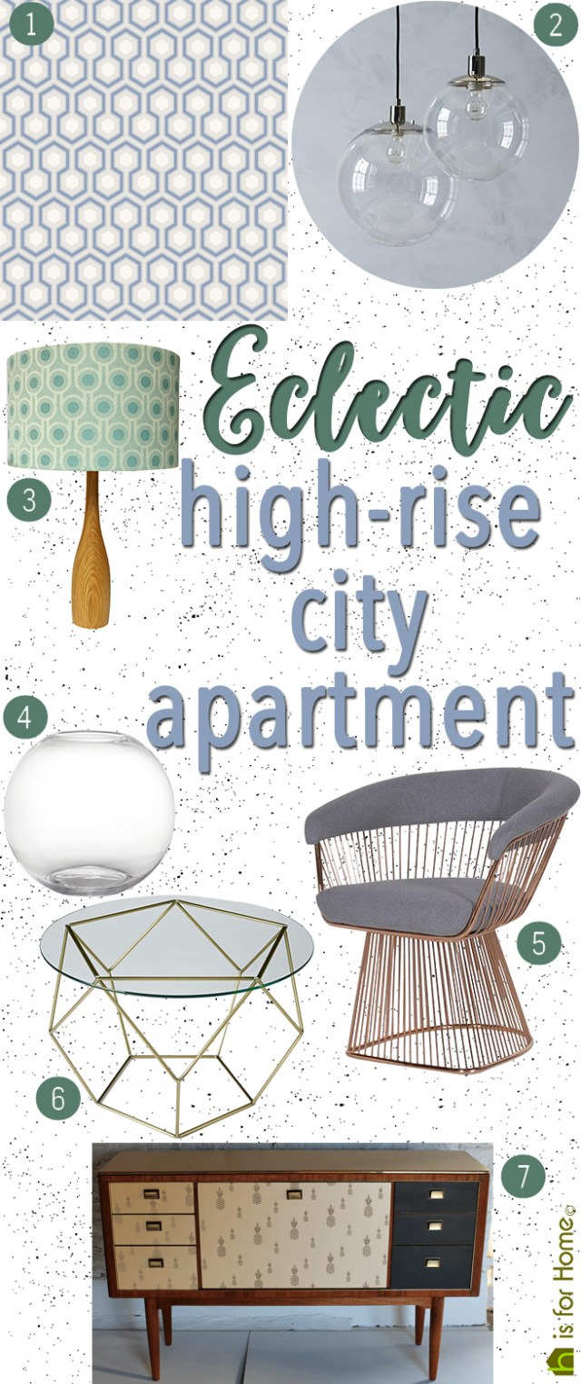 Get their Look: Eclectic high-rise city apartment | H is for Home