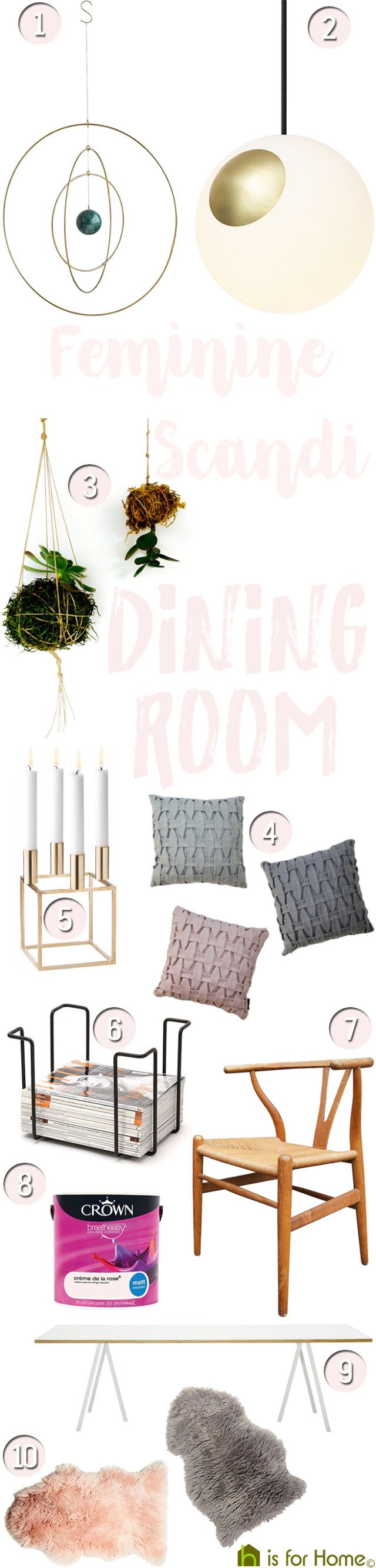 Get their look: Feminine Scandi dining room | H is for Home