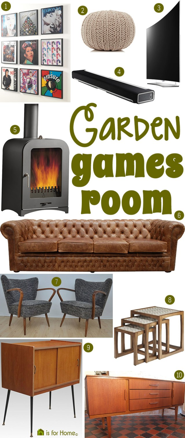 Get their look: Garden games room | H is for Home