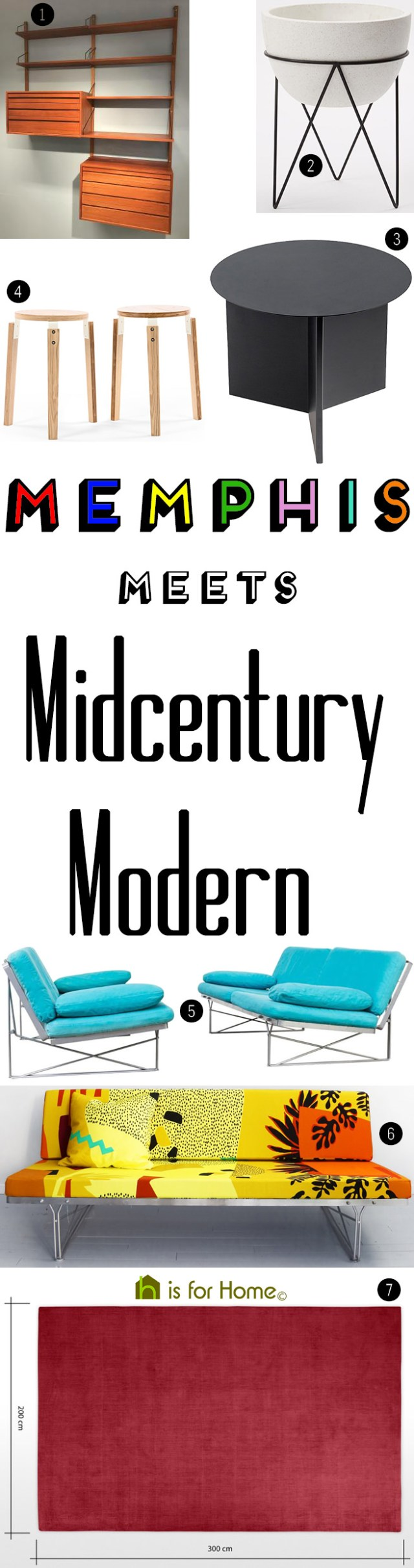 Get their look: Memphis meets Midcentury Modern | H is for Home
