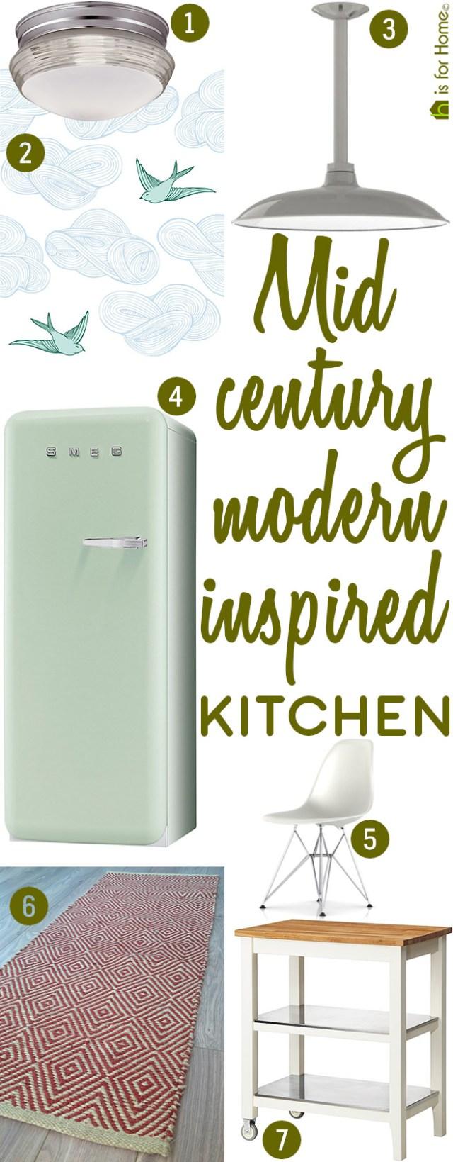 Get their look: Mid-century-modern-inspired kitchen - H is ...