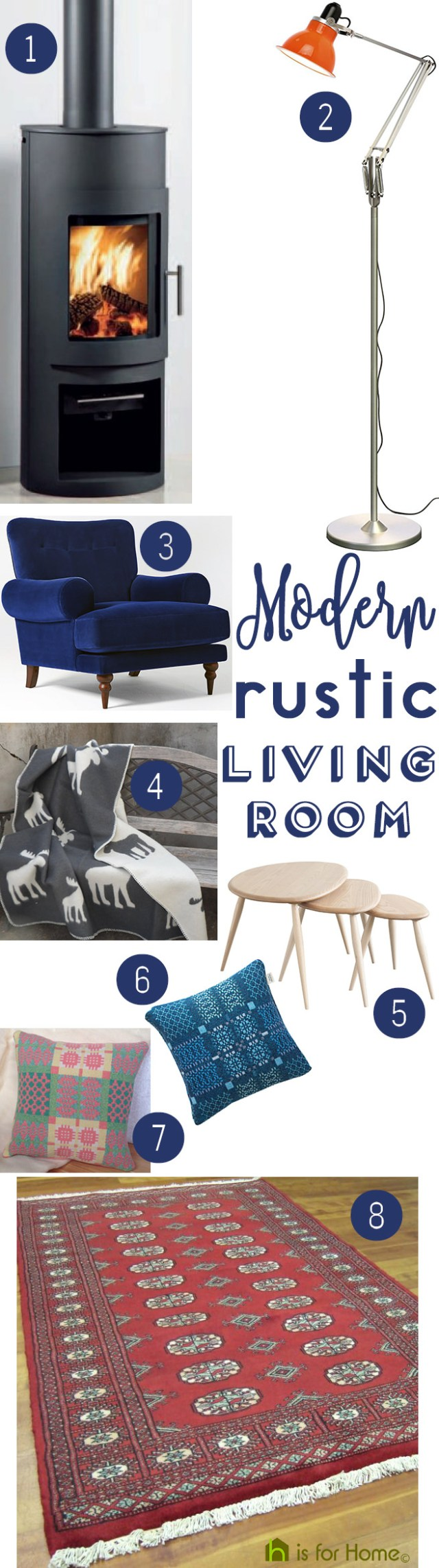 Get their Look: Modern rustic living room | H is for Home