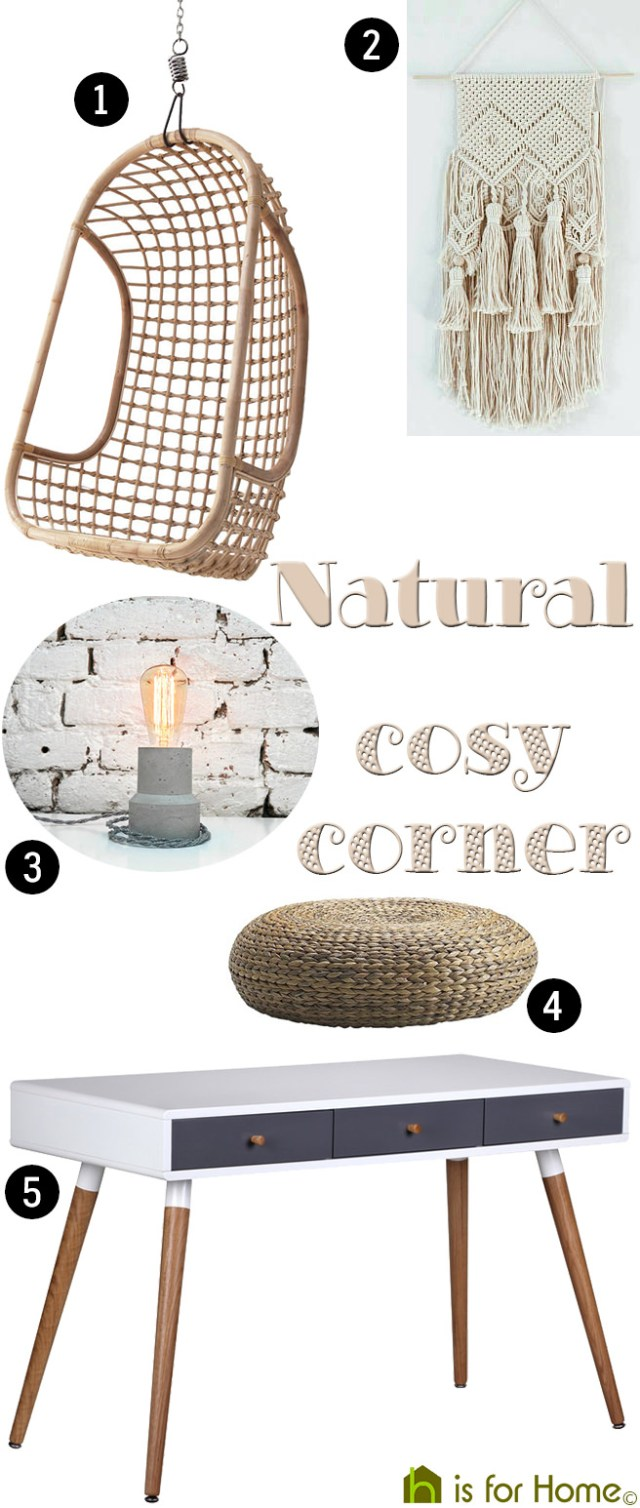 Get their look: Natural cosy corner | H is for Home