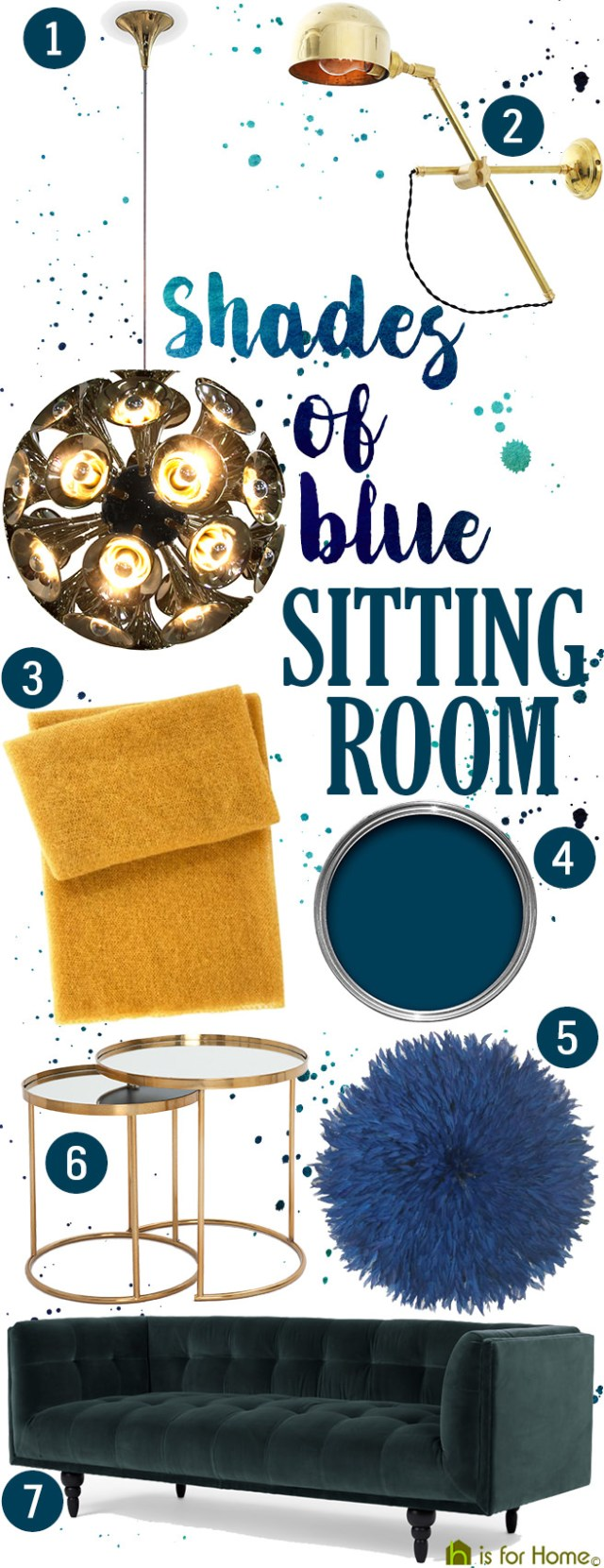 Get their look: Shades of blue sitting room | H is for Home