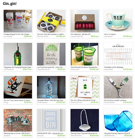 'Gin, gin!' Etsy List curated by H is for Home