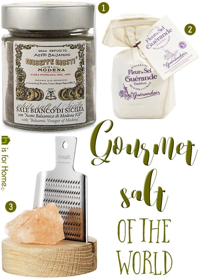 Gourmet salt of the world | H is for Home