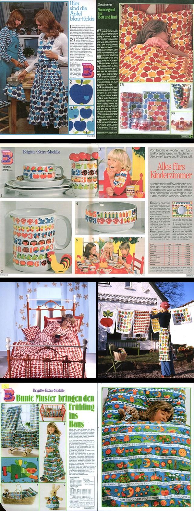 Mosaic of Graziela Preiser designs