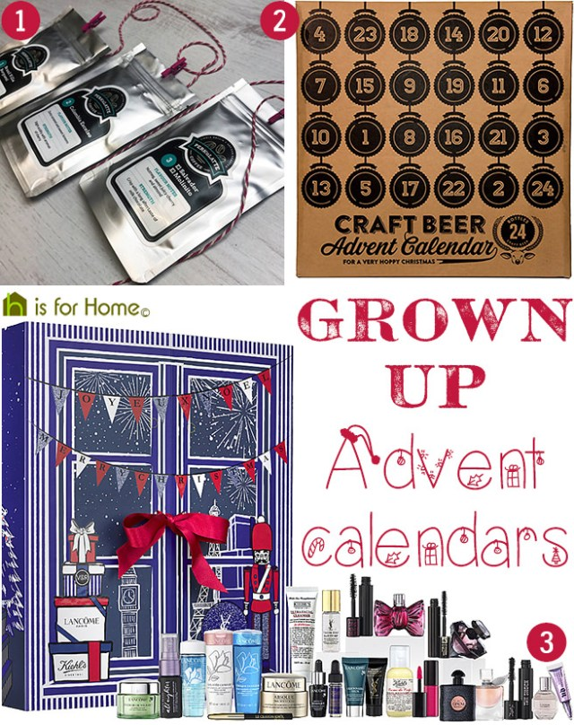 Selection of grown-up Advent calendars | H is for Home