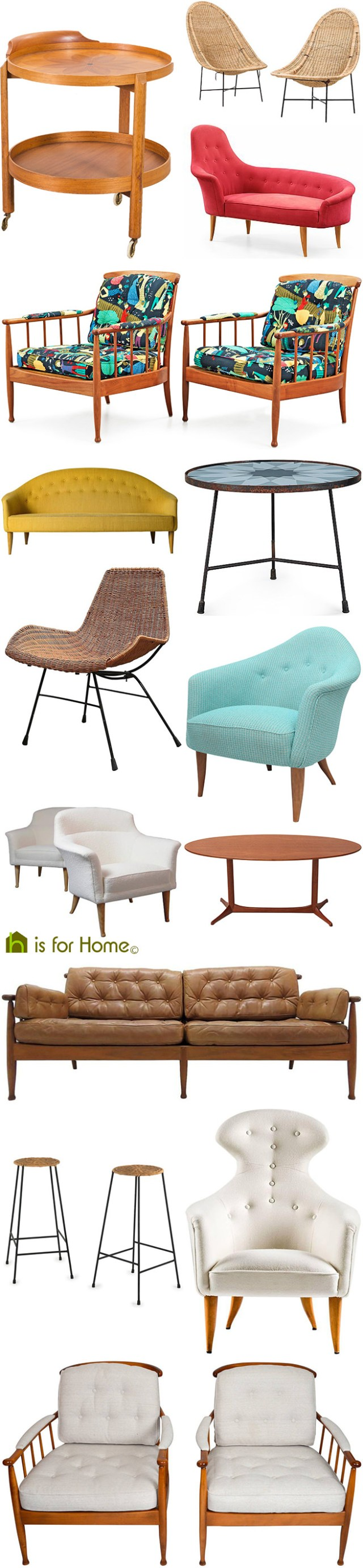 Mosaic of Kerstin Hörlin-Holmquist furniture designs | H is for Home