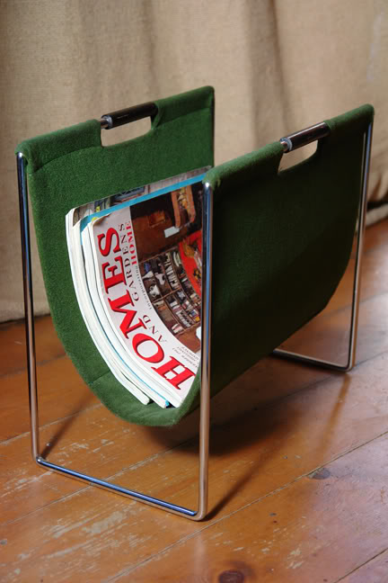 Vintage magazine rack | H is for Home