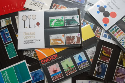 Collection of vintage British stamp presentation packs