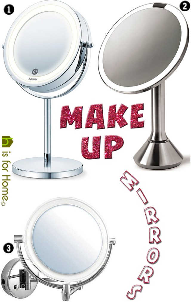 3 Make up mirrors | H is for Home