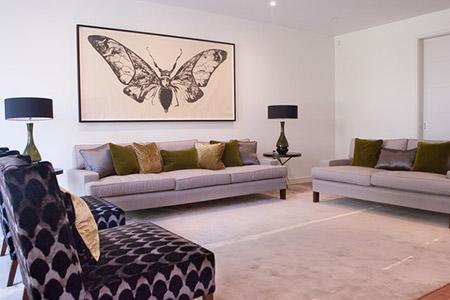 mauve living room
