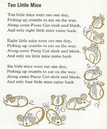 nursery rhyme from vintage children's book