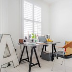Get their look: Minimalist home office