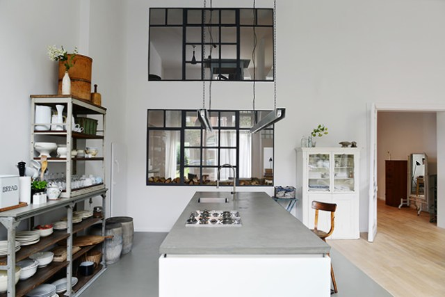 Minimalist industrial kitchen