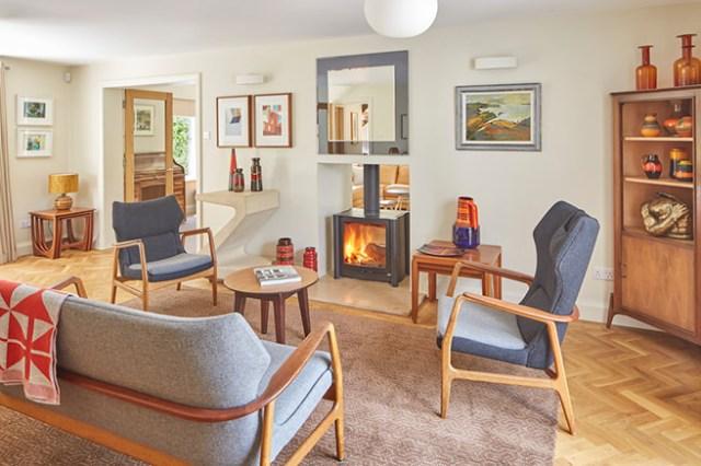 Modern vintage sitting room