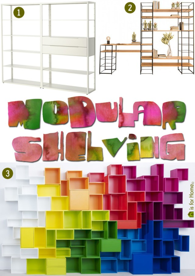 Modular shelving | H is for Home