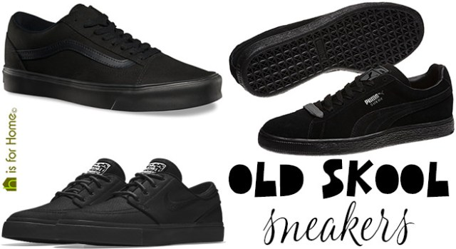 Black old skool sneakers | H is for Home