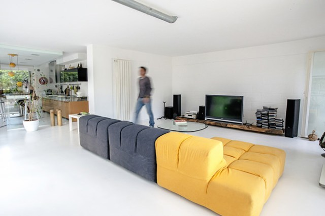 Open-plan garage conversion