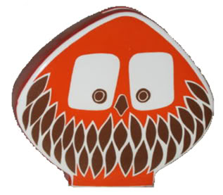 vintage Carltonware owl moneybox in orange | H is for Home
