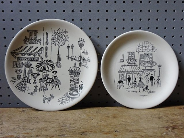Vintage Parisienne and Paris Café pattern side plates | H is for Home