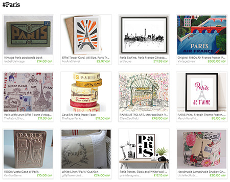 #Paris Etsy List curated by H is for Home