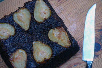 Home-made pear and ginger cake | H is for Home #recipe #cake #baking #gingercake #pears #upsidedowncake