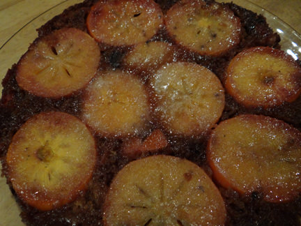 Home-made persimmon & date upside-down cake | H is for Home