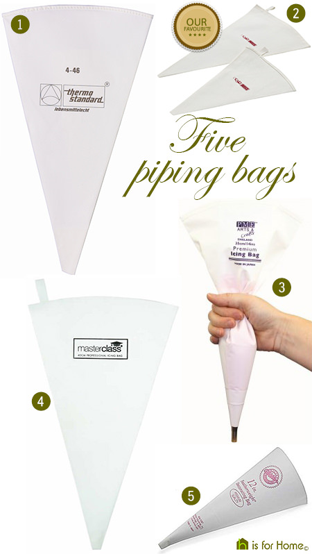 Selection of five piping bags via @hisforhome