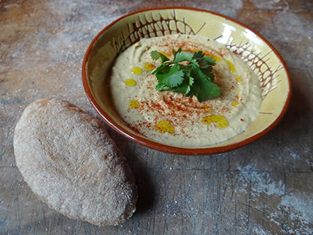 Home-made pitta and hummus | H is for Home