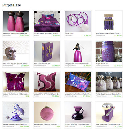 'Purple Haze' Etsy List curated by H is for Home
