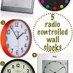 Gimme Five! Radio-controlled wall clocks