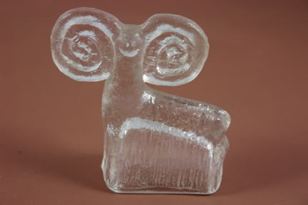 Vintage Scandinavian glass ram | H is for Home